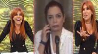 Magaly Medina no pudo aguantar la risa al ver el remix que armaron en redes con las palabras de Milagros Leiva.
