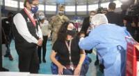 Titular de la PCM fue inoculada en el Coliseo Manuel Bonilla.