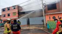 incendio consume fábrica de calzados en el Callao.