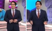 Sebastián Salazar condujo por primera vez el dominical Cuarto Poder.