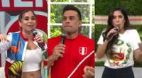 Las conductoras de América Hoy apoyaron a la selección antes de la semifinal en la Copa América, y recordaron el pasado de Christian Domínguez.