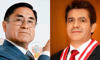 """César Hinostroza y Tomás Gálvez implicados por presuntamente integrar la organización criminal """"Los Cuellos Blancos del Puerto""""."""