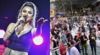 Amy Gutiérrez felicitó a Corazón Serrano por su concierto en el Huaralino, y se mostró emocionada con la posibilidad de volver a pisar un escenario.