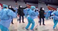 Singular baile de la enfermera se hizo viral en las redes sociales.