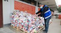 Según la comuna, hasta la fecha ya vienen entregando más de 152 toneladas de alimentos.