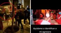 La reportera de ATV pide ayuda a los usuarios de Twitter para lograr la identificación de la mujer agresora, quien le puso una bandera peruana en el rostro con el fin de asfixiarla.