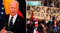 """""""Hay una serie de cosas que consideraríamos hacer para ayudar al pueblo de Cuba, pero requeriría una garantía de que el gobierno no se aproveche de ellos"""", dijo Joe Biden."""