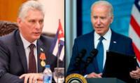 """Biden ofreció el jueves 15 de julio ayudar a Cuba, pero se refirió a la isla como """"un Estado fallido que reprime a sus ciudadanos"""". Foto: composición / AFP"""