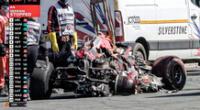 Lewis Hamilton ocasionó un accidente que pudo terminar en tragedia.