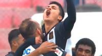 Jairo Concha estalló de emoción por su buen tanto con camiseta blanquiazul.