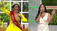 Melissa Paredes tuvo una curiosa reacción al ver a la Pánfila en América Hoy luciendo como Miss Perú, y recordó su propia experiencia.