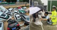 Tragedia en China: fuertes imágenes de las intensas lluvias que ha cobrado la vida de al menos 25 personas.