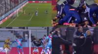 Sporting Cristal lo empató al último y la alegría se desató en el banco.