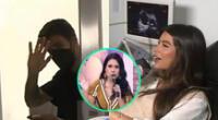 El futbolista Beto Da Silva estuvo con Ivana Yturbe durante su ecografía, pero evitó ser entrevistado y se escondió de las cámaras.