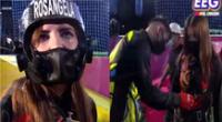 Rosángela Espinoza rompe en llanto en reto de altura de EEG.
