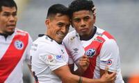 Erison Ramírez  estuvo en una buena tarde y marcó dos goles en la victoria del Muni ante Mannucci
