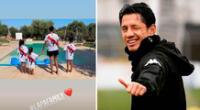 Gianluca Lapadula y su familia se divierten en la región de Apulia.