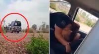 Las imágenes de los policías fueron difundidas en redes sociales.