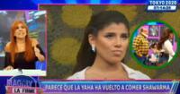Magaly Medina evidencia mala actitud de la salsera con el cómico, Jorge Benavides.