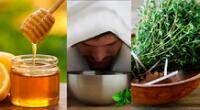 El té con miel, el vapor de agua, y el tomillo son algunas de los remedios naturales que describimos en la nota.