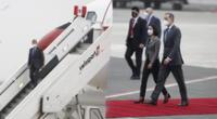 legada del Rey de España Felipe VI a Lima, este 27 de julio.