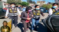 La mujer en plena intervención policial por personal de Dirincri
