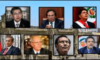 Los últimos siete presidentes del Perú