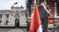 Congreso se pronuncia sobre el actuar de Francisco Sagasti al entregar su banda presidencial este 28 de julio.