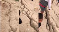 fuerte sismo de 6.1 en Sullana deja grietas en el suelo