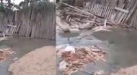 viviendas quedan inhabitables tras filtrase agua con lodo