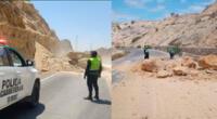 Sismo generó derrumbe en al carretera de Sullana