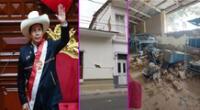 Pedro Castillo viajó a Piura para atender emergencia por sismo.