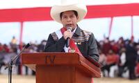 Pedro Castillo en su juramentación simbólica, realizada en Ayacucho. Foto: Presidencia de la República