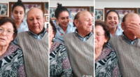 Abuelitos se vuelven virales tras su divertida reacción en un video de TikTok.