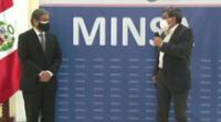 Exministro de salud fue felicitado en la sede central del Minsa.