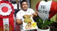 """""""Empecé con 4 mesitas en un local alquilado, pero con las ganas de ser alguien la vida"""", dijoLuis Quispe Huamán."""
