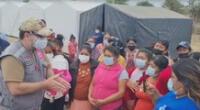 Damnificados de Piura, reciben ayuda del Ministerio de Defensa.