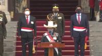 Pedro Castillo fue reconocido como jefe supremo de las Fuerzas Armadas y PNP.