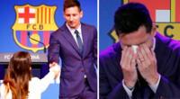 Lionel Messi recibió el apoyo de Antonela Rocuzzo y de sus tres hijos.