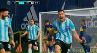 Argentinos Juniors le gana a Boca Juniors en la Bombonera.
