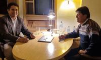 Vladimir Cerrón y Evo Morales se reunieron en el Hotel Westin