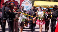 Lilia paredes participó de actividades por el aniversario de Arequipa