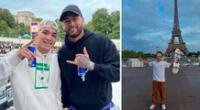Angelo Caro sueña con París 2024, pero por ahora se gana con fotazo con Neymar Jr..
