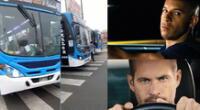 Peculiar video de los buses se hizo viral en las redes sociales.