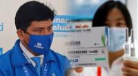 Titular de EsSalud recomendó la vacuna china.