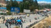 Pobladores de Jauja bloquean la Carretera Central
