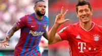 Depay del Barcelona y  Lewandowski del Bayer será un duelo de goleadores