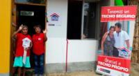 Familia que logró acceder al Bono Techo Propio para la construcción de su casa.
