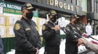 PNP decomisó cuatro toneladas de droga en las últimas tres semanas