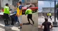 Peculiar video del árbitro se hizo viral en las redes sociales.